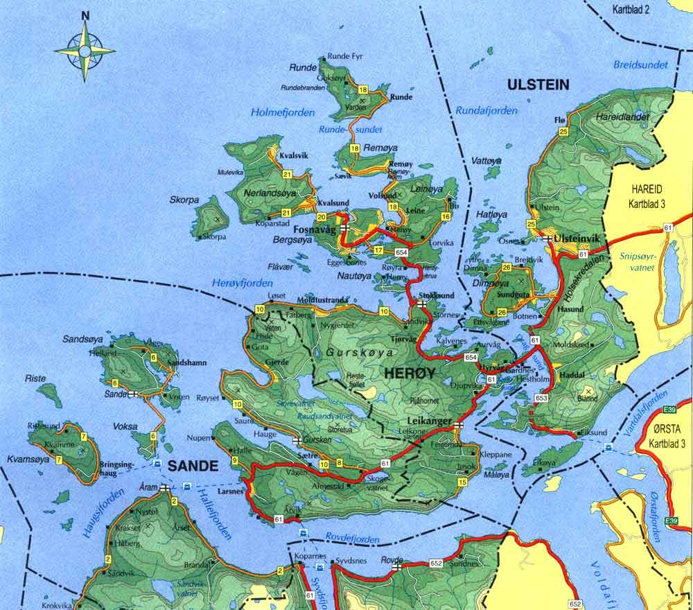 kart over herøy Nærområdet kart over herøy